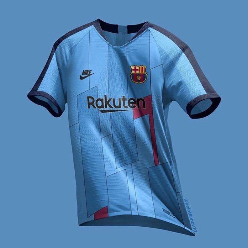18e8adf8d Projekt koszulki z trzeciego kompletu strojów FC Barcelony na sezon 2019/20  (Footy Headlines):