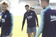 Luis Suárez i Sergi Roberto odbyli część treningu z zespołem [WIDEO]