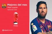 Leo Messi piłkarzem września w LaLidze
