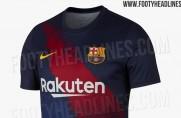 Portal Footy Headlines publikuje zdjęcia nowych koszulek Barçy do rozgrzewki
