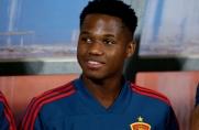 Ansu Fati zadebiutował w reprezentacji Hiszpanii do lat 21; bramka Marca Cucurelli