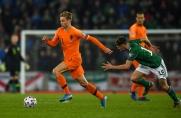 90 minut Frenkiego de Jonga w meczu Holandii z Irlandią Północną
